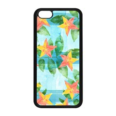 Tropical Starfruit Pattern Apple Iphone 5c Seamless Case (black)