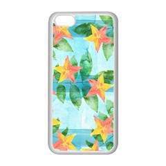 Tropical Starfruit Pattern Apple Iphone 5c Seamless Case (white)