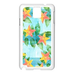 Tropical Starfruit Pattern Samsung Galaxy Note 3 N9005 Case (white)