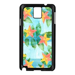 Tropical Starfruit Pattern Samsung Galaxy Note 3 N9005 Case (black)