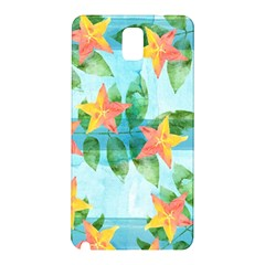 Tropical Starfruit Pattern Samsung Galaxy Note 3 N9005 Hardshell Back Case