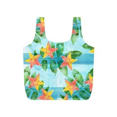 Tropical Starfruit Pattern Full Print Recycle Bags (s)