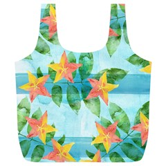 Tropical Starfruit Pattern Full Print Recycle Bags (l)