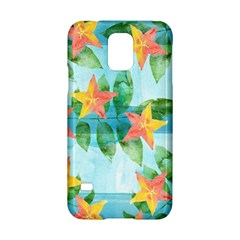 Tropical Starfruit Pattern Samsung Galaxy S5 Hardshell Case