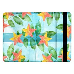 Tropical Starfruit Pattern Samsung Galaxy Tab Pro 12 2  Flip Case