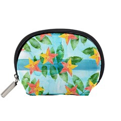 Tropical Starfruit Pattern Accessory Pouches (small)