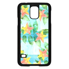Tropical Starfruit Pattern Samsung Galaxy S5 Case (black)
