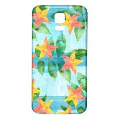 Tropical Starfruit Pattern Samsung Galaxy S5 Back Case (white)