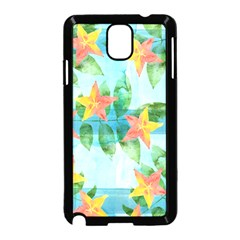 Tropical Starfruit Pattern Samsung Galaxy Note 3 Neo Hardshell Case (black)