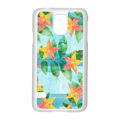 Tropical Starfruit Pattern Samsung Galaxy S5 Case (white)