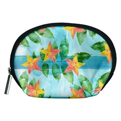 Tropical Starfruit Pattern Accessory Pouches (medium)