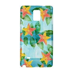 Tropical Starfruit Pattern Samsung Galaxy Note 4 Hardshell Case
