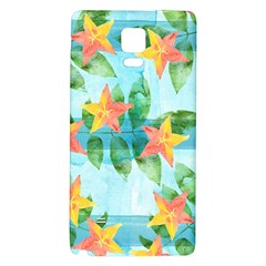 Tropical Starfruit Pattern Galaxy Note 4 Back Case