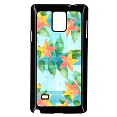 Tropical Starfruit Pattern Samsung Galaxy Note 4 Case (black)