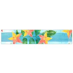 Tropical Starfruit Pattern Flano Scarf (small)