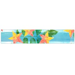 Tropical Starfruit Pattern Flano Scarf (large)