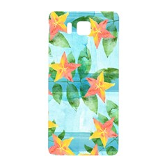 Tropical Starfruit Pattern Samsung Galaxy Alpha Hardshell Back Case