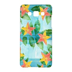 Tropical Starfruit Pattern Samsung Galaxy A5 Hardshell Case  by DanaeStudio