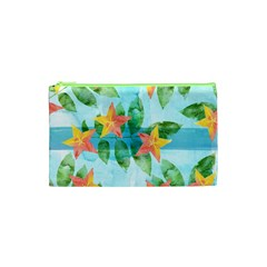 Tropical Starfruit Pattern Cosmetic Bag (xs)
