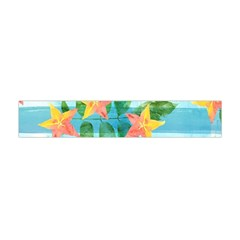 Tropical Starfruit Pattern Flano Scarf (mini)