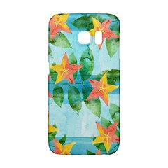 Tropical Starfruit Pattern Galaxy S6 Edge