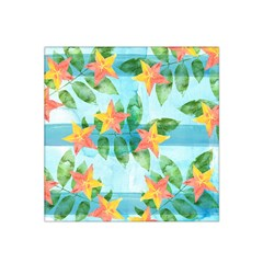 Tropical Starfruit Pattern Satin Bandana Scarf