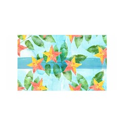 Tropical Starfruit Pattern Satin Wrap