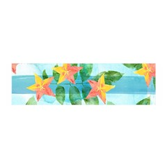 Tropical Starfruit Pattern Satin Scarf (oblong)