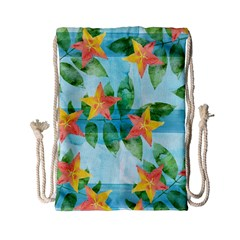Tropical Starfruit Pattern Drawstring Bag (small)