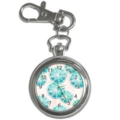 Turquoise Citrus And Dots Key Chain Watches by DanaeStudio