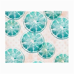 Turquoise Citrus And Dots Small Glasses Cloth by DanaeStudio