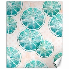 Turquoise Citrus And Dots Canvas 8  X 10  by DanaeStudio