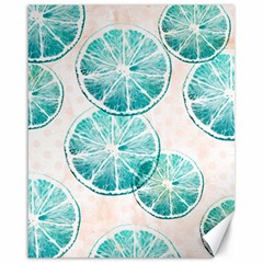 Turquoise Citrus And Dots Canvas 16  X 20   by DanaeStudio