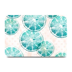 Turquoise Citrus And Dots Plate Mats by DanaeStudio
