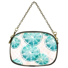 Turquoise Citrus And Dots Chain Purses (two Sides)  by DanaeStudio