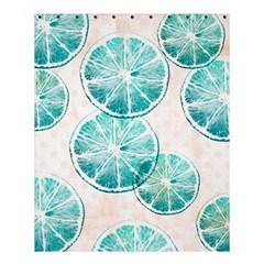 Turquoise Citrus And Dots Shower Curtain 60  X 72  (medium)  by DanaeStudio