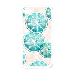 Turquoise Citrus And Dots Apple Iphone 4 Case (white) by DanaeStudio