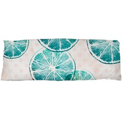 Turquoise Citrus And Dots Body Pillow Case (dakimakura) by DanaeStudio