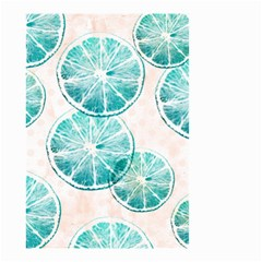 Turquoise Citrus And Dots Small Garden Flag (two Sides) by DanaeStudio