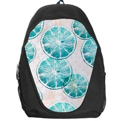 Turquoise Citrus And Dots Backpack Bag by DanaeStudio