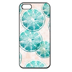 Turquoise Citrus And Dots Apple Iphone 5 Seamless Case (black) by DanaeStudio