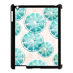 Turquoise Citrus And Dots Apple Ipad 3/4 Case (black) by DanaeStudio