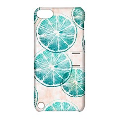 Turquoise Citrus And Dots Apple Ipod Touch 5 Hardshell Case With Stand by DanaeStudio
