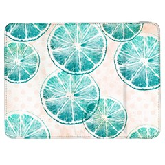 Turquoise Citrus And Dots Samsung Galaxy Tab 7  P1000 Flip Case by DanaeStudio
