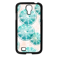 Turquoise Citrus And Dots Samsung Galaxy S4 I9500/ I9505 Case (black) by DanaeStudio