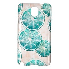 Turquoise Citrus And Dots Samsung Galaxy Note 3 N9005 Hardshell Case by DanaeStudio