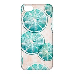 Turquoise Citrus And Dots Apple Iphone 5c Hardshell Case by DanaeStudio