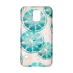 Turquoise Citrus And Dots Samsung Galaxy S5 Hardshell Case  by DanaeStudio