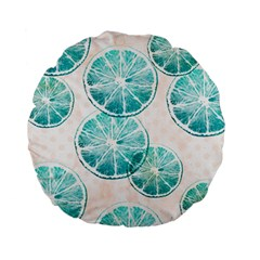 Turquoise Citrus And Dots Standard 15  Premium Flano Round Cushions by DanaeStudio