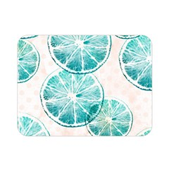 Turquoise Citrus And Dots Double Sided Flano Blanket (mini)  by DanaeStudio